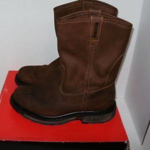 "Wolverine Mens Boots Size 9.5 10"" Slip Resistant"